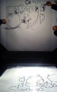 Playing with tape, projectors, Wicky Sticks and so much more! by Sara Dudman at www.accessart.org.uk