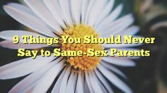 9 Things You Should Never Say to Same-Sex Parents - http://7wondersuniverse.tumblr.com/153651457291