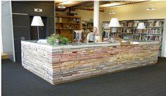 Repurposed books.