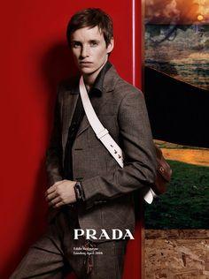 EDDIE REDMAYNE IS THE NEW FACE OF PRADA