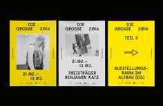 """Visual identity and exhibition design for """"DIE GROSSE Kunstausstellung NRW 2016"""" in Düsseldorf, Germany."""