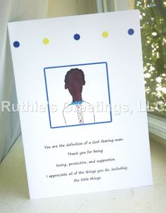 """""""God-fearing Birthday Man"""" card available in the Ruthie's Greetings Etsy shop."""