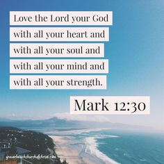 Mark 12:30 Love the Lord with all your heart this plus many other images