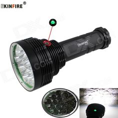 KINFIRE KF-16 XM-L2 U2 9600lm 16-LED 3-Mode Cool White Flashlight w/ Power Display (6 x 18650). . Tags: #Lights #Lighting #Flashlights #LED #Flashlights #18650 #Flashlights