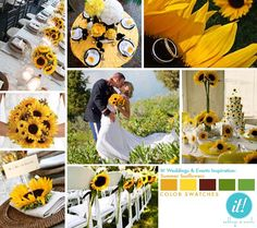 Sunflower wedding @laurie ann kleinhenz !!