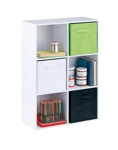 White Stackable 6-Cube Organizer