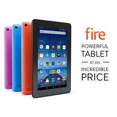 "NEW Amazon Kindle Fire 7"" Display 8 16 GB Wi-Fi 2015 Model IPS Quad core Colors #Amazon"