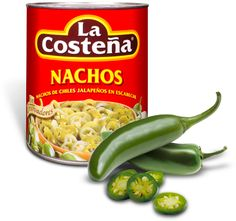 Chiles Jalapenos en rondelles nachos