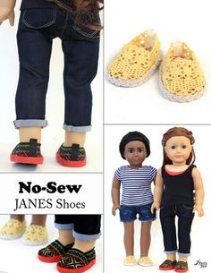Liberty Jane No Sew Janes Doll Clothes Pattern 18 inch American Girl Dolls | Pixie Faire