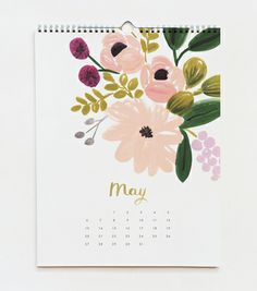 want for my 2012 calendar. my friend gave me a rifle paper co. notepad as a bridesmaids gift and now i'm obsessed.