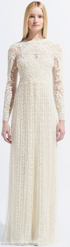 Valentino | Resort 2014...I think this would make a beautiful wedding dress as well...