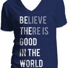Be The Good - Navy V Neck in small $22