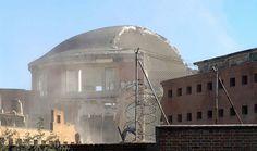 Obras de derribo de la cúpula de la antigua Prisión Provincial de Madrid - Portal Fuenterrebollo
