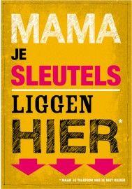 mama je sleutels | posters | kijkes