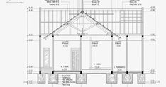 Contoh Gambar Potongan Rumah Minimalis menggunakan Autocad Autocad, Carpentry, Architecture Details, Facade, Floor Plans, Construction, House Design, Flooring, How To Plan