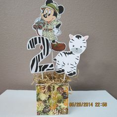 Safari Mickey Mouse Centerpiece DIY by ScrapbookSolutions on Etsy, $14.00