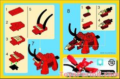 Thousands of complete step-by-step printable older LEGO® instructions for free. Here you can find step by step instructions for most LEGO® sets. Lego Activities, Toddler Activities, Lego Dino, Modele Lego, Cuadros Star Wars, Lego Construction, Cool Lego Creations, Lego Group, Lego Design
