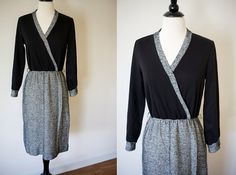 #Vintage Black and White Dress / Small Vintage by SloanVintage, $36.00 #etsy