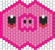 Pig Mask bead pattern Kandi Mask Patterns, Perler Patterns, Peyote Patterns, Bead Patterns, Pony Bead Animals, Beaded Animals, Pig Mask, Kandi Bracelets, Rave Gear