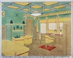 Bauhaus, Art Nouveau Interior, Building Art, Gaudi, Art School, Style Guides, Netherlands, Amsterdam, House