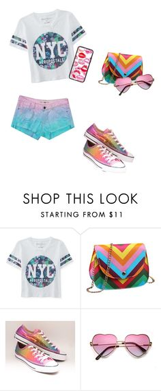 """""""Colorful casual"""" by planeta-janeta56903 on Polyvore featuring Aéropostale, Converse, women's clothing, women, female, woman, misses and juniors"""
