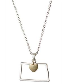 North Dakota state pendant necklace — Cents Of Style