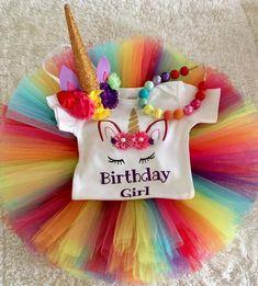 Rainbow Unicorn Birthday Outfit – Tutu Cute By Carrie