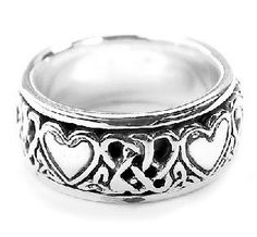 Amazon.com: Sterling Silver Celtic Heart Knot Spinner Ring(Sizes 4,5,6,7,8,9,10,11,12,13,14,15): Jewelry
