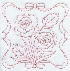 Roses (Redwork)