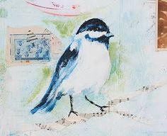 Blackbirds & Bumblebees: Mixed Media Paintings