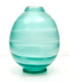 Botterweg Auctions AmsterdamGreen Serica vase with horizontal crackle ribs design A.Copier 1931 executed by Leerdam / Holland Aqua, Turquoise, Colored Glass, Fresh Water, Netherlands, Holland, Blue Green, Glass Art, Sculptures