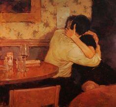Romantic Paintings by Joseph Lorusso Joseph Lorusso, Romantic Paintings, The Embrace, Lovers Embrace, Ecole Art, Art Of Love, Art Archive, Classical Art, Klimt