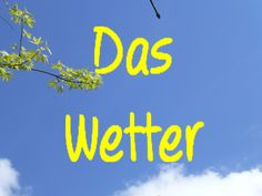Learn German: Das Wetter