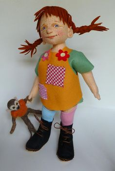 Pippi Longstocking and Mr. Nilsson from Pip's Poppies
