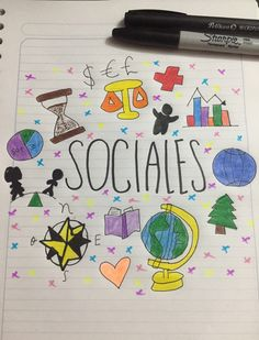 Lettering Tutorial, Hand Lettering, School Binder Covers, School Suplies, Social Studies Notebook, Bullet Journal Lettering Ideas, Stabilo Boss, School Notebooks, School Sets