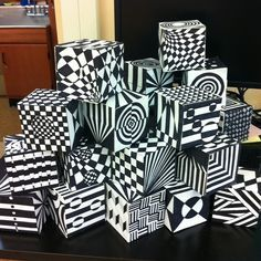 op art cube template - Google Search
