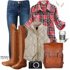 Frugal Fashion Friday Pumpkin Patch Fall Outfit or Fall Field Trip Outfit. Polyvore outfit of the day on Frugal Coupon Living.