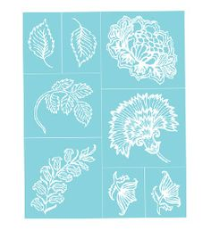 Martha Stewart Crafts™ Wildflowers Adhesive Silkscreens  #Plaidonline.com #ChristmasCraftWishList