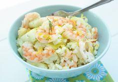Shrimp & Cauliflower Salad - Low Carb and Gluten Free - I Breathe... I'm Hungry...