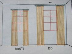 Great illustration and so important when hanging drapes- the difference is amazing.