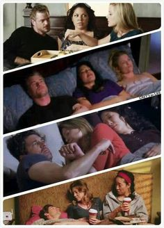This makes total sense to a Grey's fan. :) I miss these moments.. That moment you realize Callie and mark made Arizona as uncomfortable as Christina and Meredith made derek...