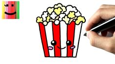 Comment dessiner des pop corns- TUTORIEL - How to draw a popcorn ...