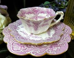 Lovely Teacup, Saucer and Plate- fluted