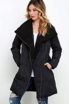 BB Dakota Evans Black Puffer Jacket at Lulus.com!