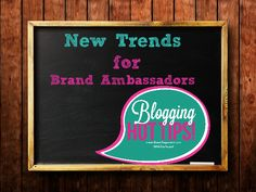 Brands are getting more creative with their brand ambassadors. Get up to date so bloggers know what to expect when the next opportunity arrises.