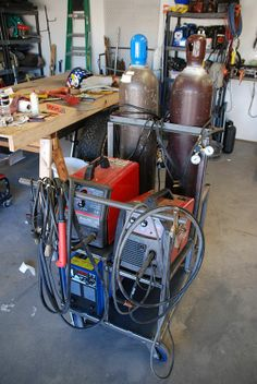 Double welding cart. . . Could replace one welder with plasma cutter