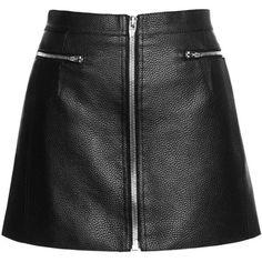 Zippered Raw Edge Mini Skirt | Moda Operandi (780 CAD) ❤ liked on Polyvore featuring skirts, mini skirts, bottoms, zip skirt, short mini skirts, mini skirt, zipper skirt and zipper mini skirt