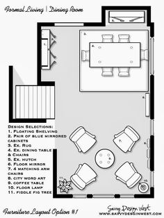 Dining Room Floor Plan room arrangements for awkward spaces | spaces