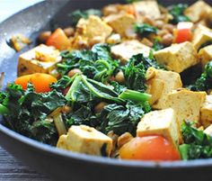 Quick and Easy Curried Chickpeas With Tofu  by Kalyn Denny