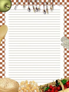 Recipe Book Templates, Printable Recipe Cards, Printable Paper, Scrapbook Recipe Book, Scrapbook Paper, Framed Wallpaper, Tea Art, Book Projects, Note Paper